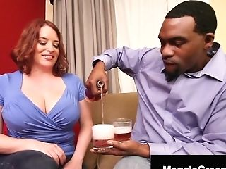Supah Big Tits Maggie Green Fucks Big Black Penis Rome Major!
