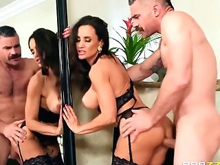 Horny Man With Mustaches Gobbles With Charles Dera And Lisa Ann