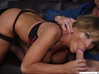 Eyes Covered Curvy Cougar Aubrey Black Loves Some Fantastic Rear End Fuck