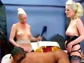Blondes Humble Black Boy Fucked With Strap On Dildo