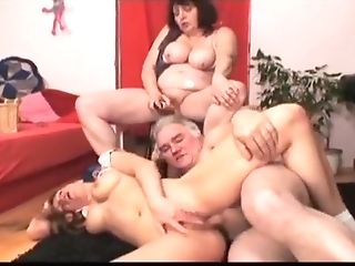 Grandpas Very First Threesome Orgy