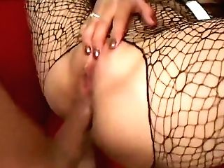 Striking Black-haired With Big Hooters Gets Her Rectal Crevasse Toughly Drilled