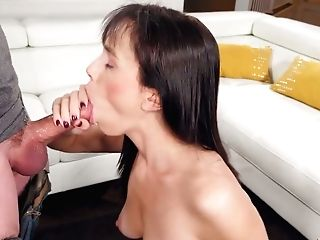 Obsessed With Hard Big Dick Honey Alana Cruise Gets Facial Cumshot After Intense Oral Pleasure