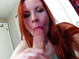 Juggy Ginger Stepmom Found Empty Condom And Helped Her Stepson To Spunk
