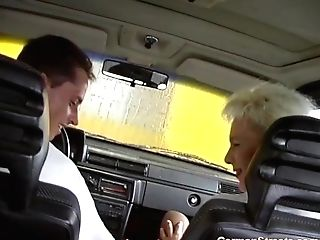 German Mummy Rough Big Man Rod Backseat Banged