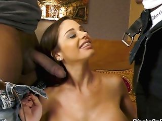 Posh Milky Mummy Cathy Heaven Gets Dual Penetrated By Black Dudes