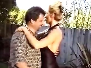 Huge-boobed Blonde Housewife Fucking Outside