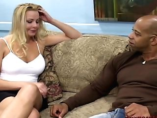 Hot Blonde Wifey Bj's And Fucks First-ever Monster Black Dick
