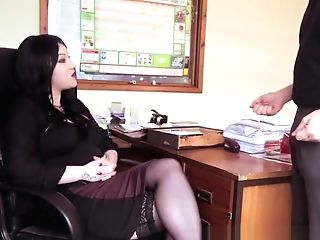 Office Cfnm Stunner Dicksucking Tauntingly