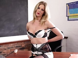 Elegant Professor Leah Gets Naked And Shows Off Off Her Perky Yummy Tits