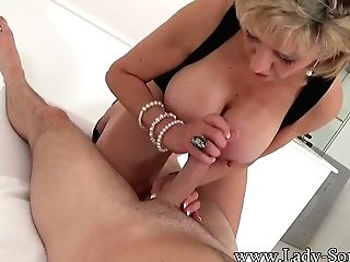 Lady Sonia Providing A Sensuous Tugjob And Dt