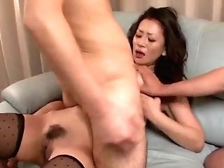 Big-titted Rei Kitajima Deals Spunk-pump In Superb Group Scenes