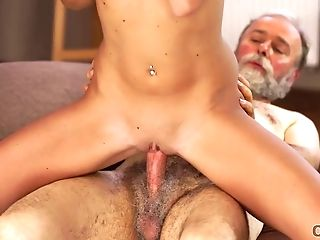 Old4k. Chick Celebrates Passing Examinations By Having Orgy With Old Dad