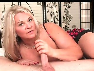 Matures Lady Strokes A Youthfull Bone