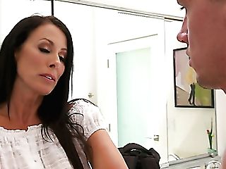 Morning Deep Throat Given By Lusty Huge-chested Reagan Foxx Before Hot Rear End