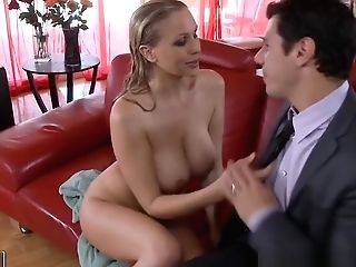 Blonde Queen Julia Ann Gets Facialized