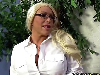 Huge-chested Cougar Alexis Diamonds Gets Big Black Cock Ass Fucking