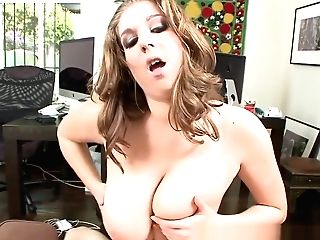 Curvy Office Honey Tittyfucked By Her Chief