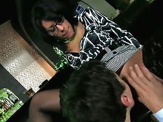 Greedy For Spunk Bitch Gives Suck Off Near The Bar Counter