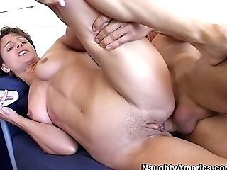 Matures Sweetheart Cori Gates Gets Her Asshole Worked Over By Youthfull Man