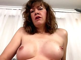 Old Woman Honey Morgan Masturbates And Fucks