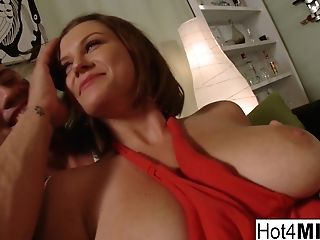 Sara Stone In Naturally Stacked Dark-haired Gets Fucked Hard On The Couch - Hot4milf