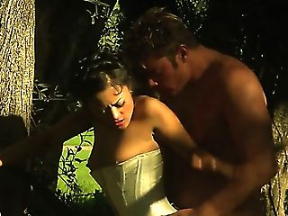 Zealous Lady Gets Her Twat Both Munched And Fucked In The Forest