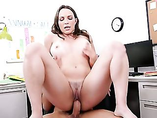 Supah Duper Hot Big Boobed And Bootylicious Assistant Is Plumbed Rear End